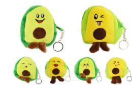 72 Bulk Plush Coin Purse Avocado