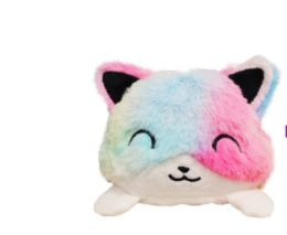 12 Bulk Reversible Plush Cat