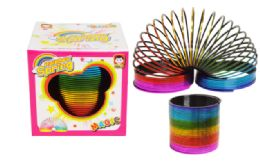 72 Bulk Slinky Boxed Metallic Rainbow