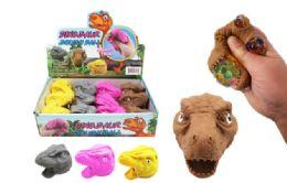 72 Bulk Dinosaur Head Squish Ball