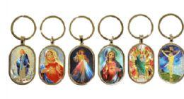72 Bulk Metal Christian Keychain