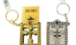 72 Bulk Mini Bible Keychain In Case