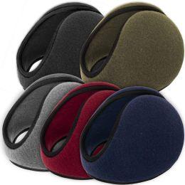 100 Bulk Adult Fleece Ear Muffs - 5 Assorted Colors