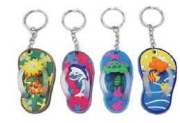 72 Bulk Rubber Flip Flop Keychain