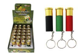 48 Bulk Shotgun Shell LED Keychain