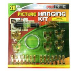 48 Bulk Picture Hanging Kit 20 Piece
