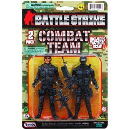 "48 Bulk 2PC 4.25"" ARMY MEN ON DOUBLE BLISTER CARD"