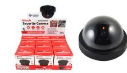 24 Bulk Mock Security Camera With Flashing Light