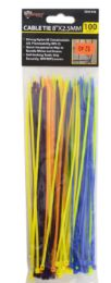 48 Bulk Cable Ties Colorful 100 Piece 8 Inch