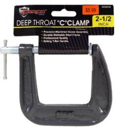 24 Bulk Deep Throat C Clamp 2.5 Inch