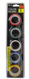 48 Bulk Electrical Tape 5 Piece Assorted Color