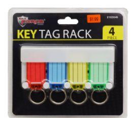 24 Bulk Key Tag Rack 4 Piece