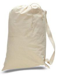 """72 Bulk 18"""" Cotton Canvas Laundry Bags - Natural"""