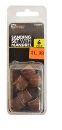 60 Bulk Sanding Set With Mandrel 6 Piece