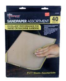 36 Bulk Sand Paper Assortment 40 Piece