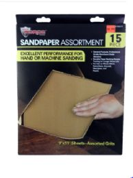 60 Bulk Sand Paper With Sleeve 15 Piece
