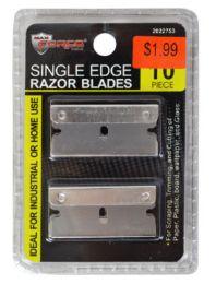 60 Bulk Single Edge Razor Blades 10 Piece