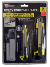 24 Bulk Snap Blade Knives With Grip And Blades 2 Piece