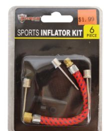 60 Bulk Sports Inflator Kit 6 Piece