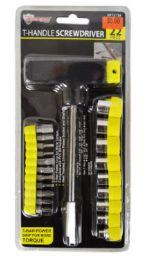 24 Bulk T Handle Screwdriver And Bit Socket Set 2 Piece