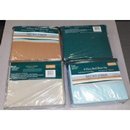 12 Bulk 4 Pc Bed Sheet Set MicrO-Fiber Assorted Colors Queen Size