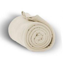 24 Bulk Fleece Blankets/throw -Cream