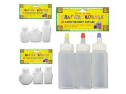 72 Bulk Craft Bottles 3 Pack