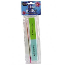 72 Bulk Nail Buffer With Cuticle Stick