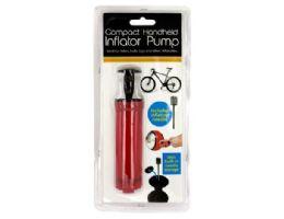 72 Bulk 4.5'' Hand Air Pump W/ Inflator Needle