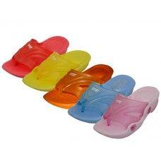 60 Bulk Toddler's Squeaky Flip Flop Sandals