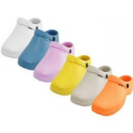 36 Bulk Women's Close Toe Rubber Nursing Shoes