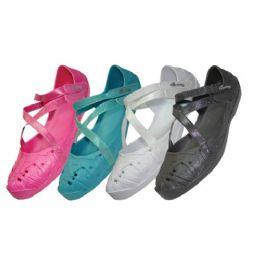 36 Bulk Girls' CrisS-Cross Solid Color Shoes