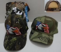 36 Bulk Camo Eagle Hat