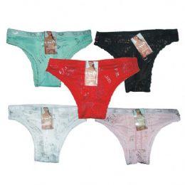 96 Bulk Ladys Panty W/hanger Assorted