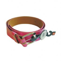 96 Bulk Women Belt Pink Assorted Size