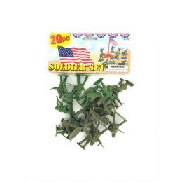 72 Bulk Set Of 20 Plastic Soldiers