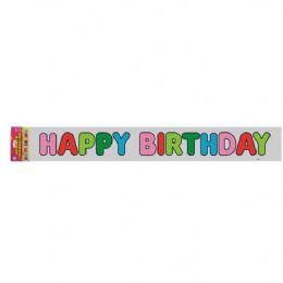 48 Bulk Happy Birthday Banner 12 Ft.(3.65m)