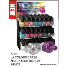 288 Bulk La Color Craze Nail Polish With Display
