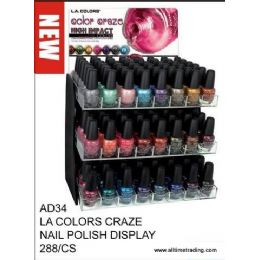 288 Bulk La Color Craze Nail Polish Display