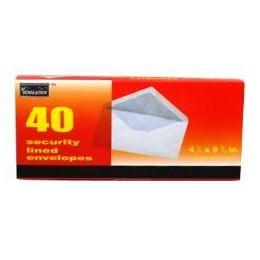 96 Bulk Boxed Security Envelopes - #10 - 40 Count