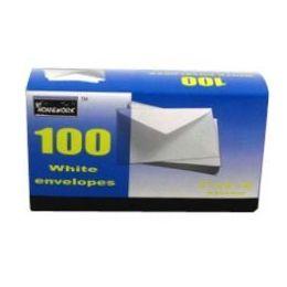 24 Bulk Boxed White Envelopes - #6 3/4 - 100 Count
