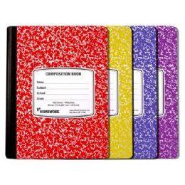 24 Bulk Marble Comp. - Asst. Colors Cover - 100 Sh - 9.75 X 7.5