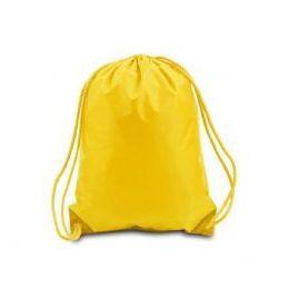 60 Bulk Drawstring Backpack - Golden Yellow