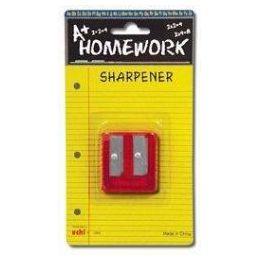 48 Bulk Sharpener - Pencil - Duel Metal Blades - 2 Hole
