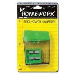 48 Bulk Sharpeners - 2 Pk - Pencil + Crayon - Asst.cls.