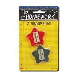 96 Bulk Sharpeners - Pencil - Star Design - 2 Pack