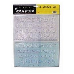 96 Bulk 2 Pack Alphabet And Numbers Stencils