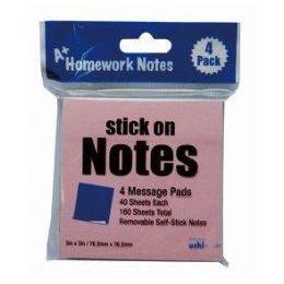48 Bulk Stick On Notes 3x3 4pk 40 Sheet Ea 160 Sheets Total, 4 Colors