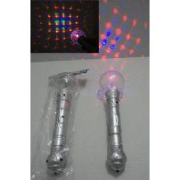 """96 Bulk 10"""" Light & Sound Disco Ball Wand"""