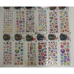 "144 Bulk 3""x6.25"" Puffy Sticker Sheets"